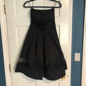 Classic black fit and flare dress